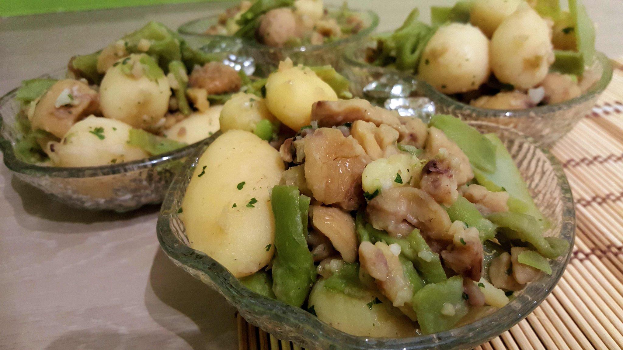 recette po 234 l 233 e haricots plats pommes de terre marrons persillade au cookeo cookeo mania