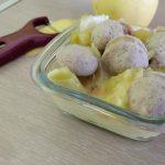 Boudin blanc, poireau et pomme au cookeo