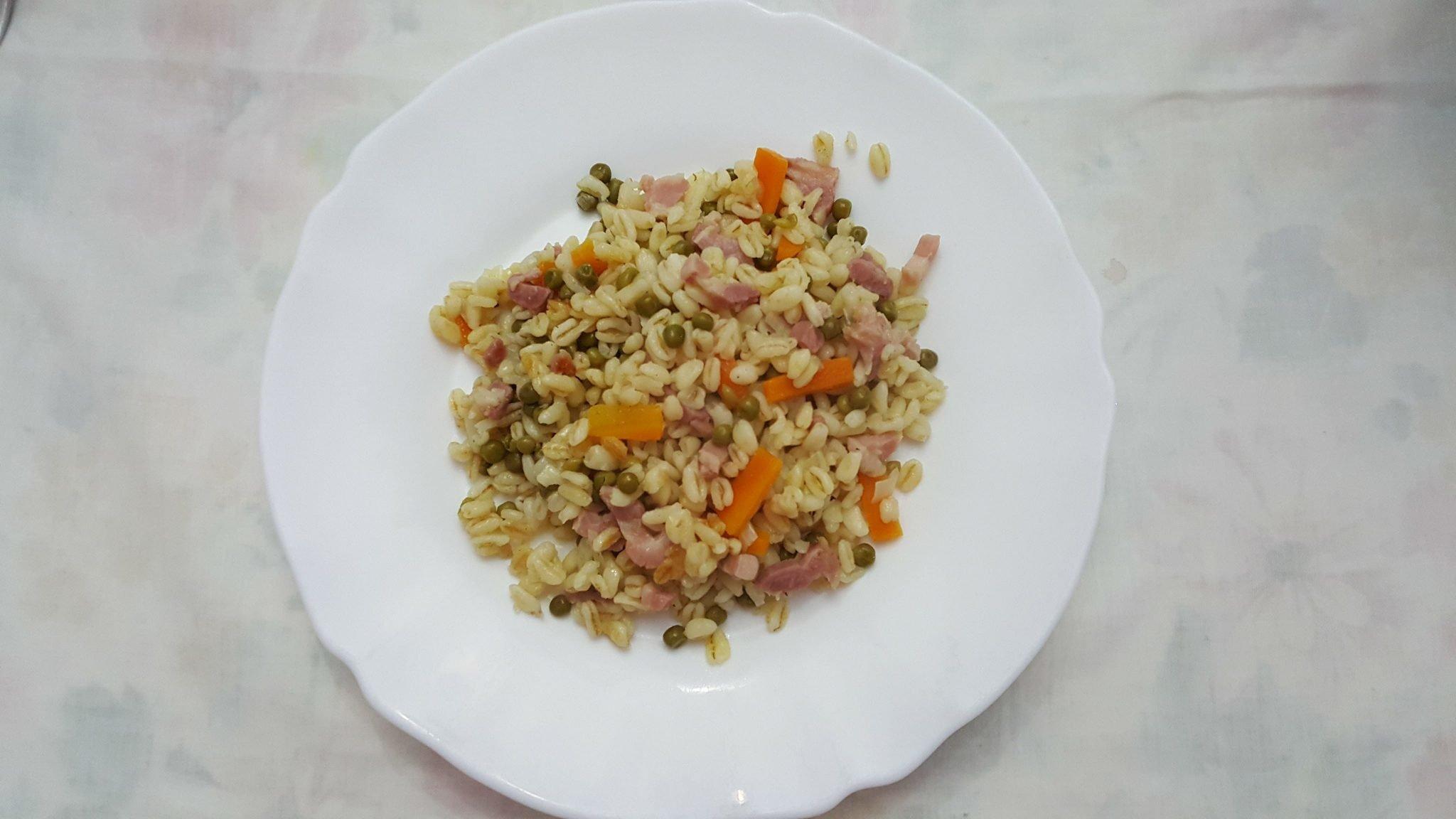 Recette Blé aux lardons et petits légumes au cookeo ...