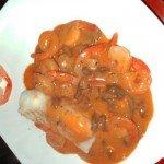 Cabillaud aux petites crevettes au robot multi-cuiseur Moulinex
