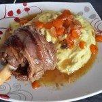 Souris d'agneau au cumin et miel avec ses carottes