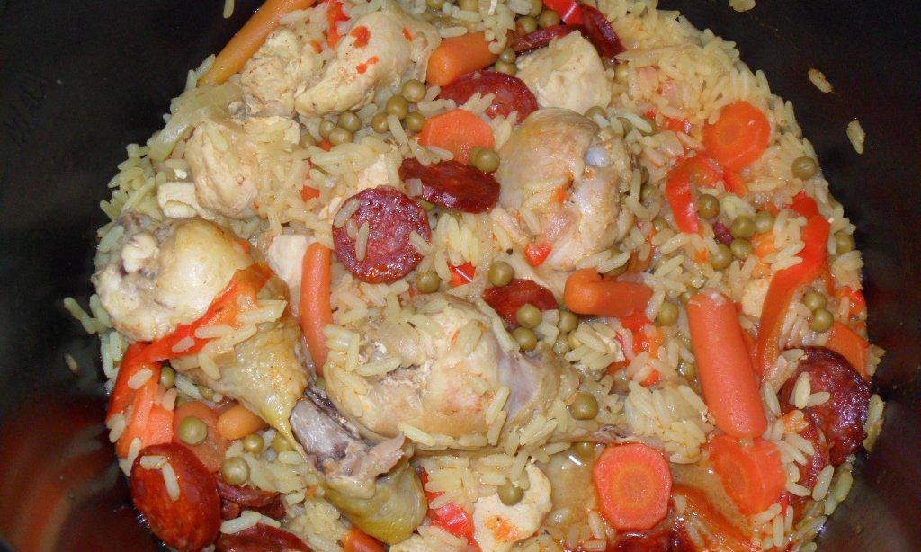 Recette cookeo Paella au poulet et chorizo au cookeo ...