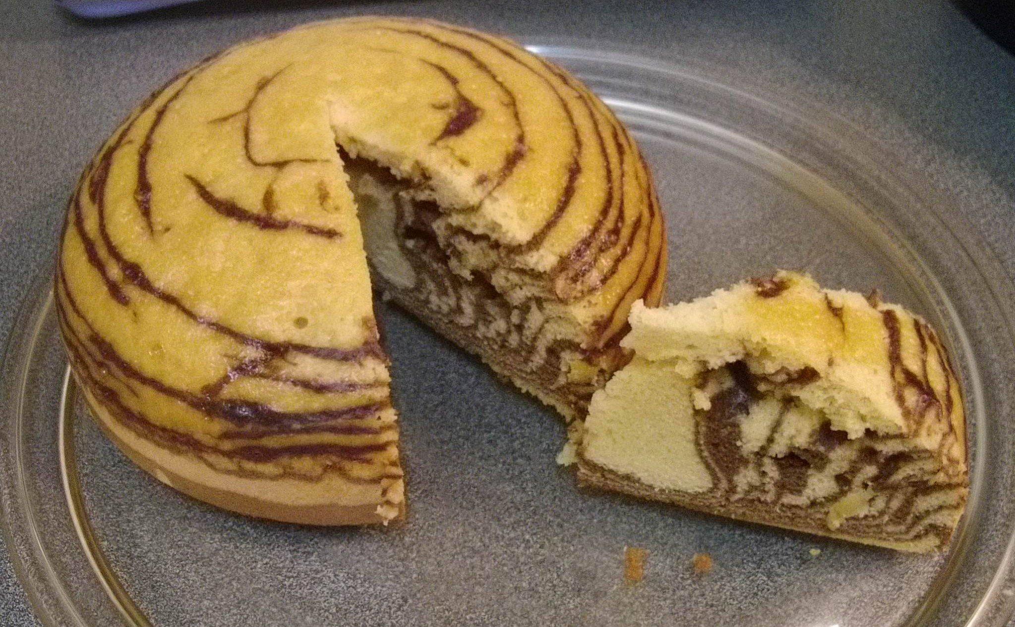 Recette cookeo Gâteau zébré de Jocelyne Chatillon au cookeo , Cookeo Mania