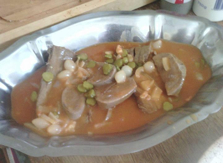 Recette langue de b uf sauce piquante de patricia au cookeo cookeo mania - Cuisiner une langue de boeuf ...