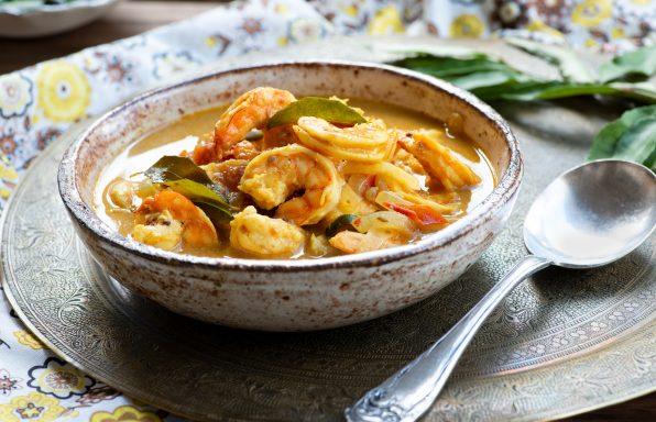 Crevette au lait de coco et curry au cookeo