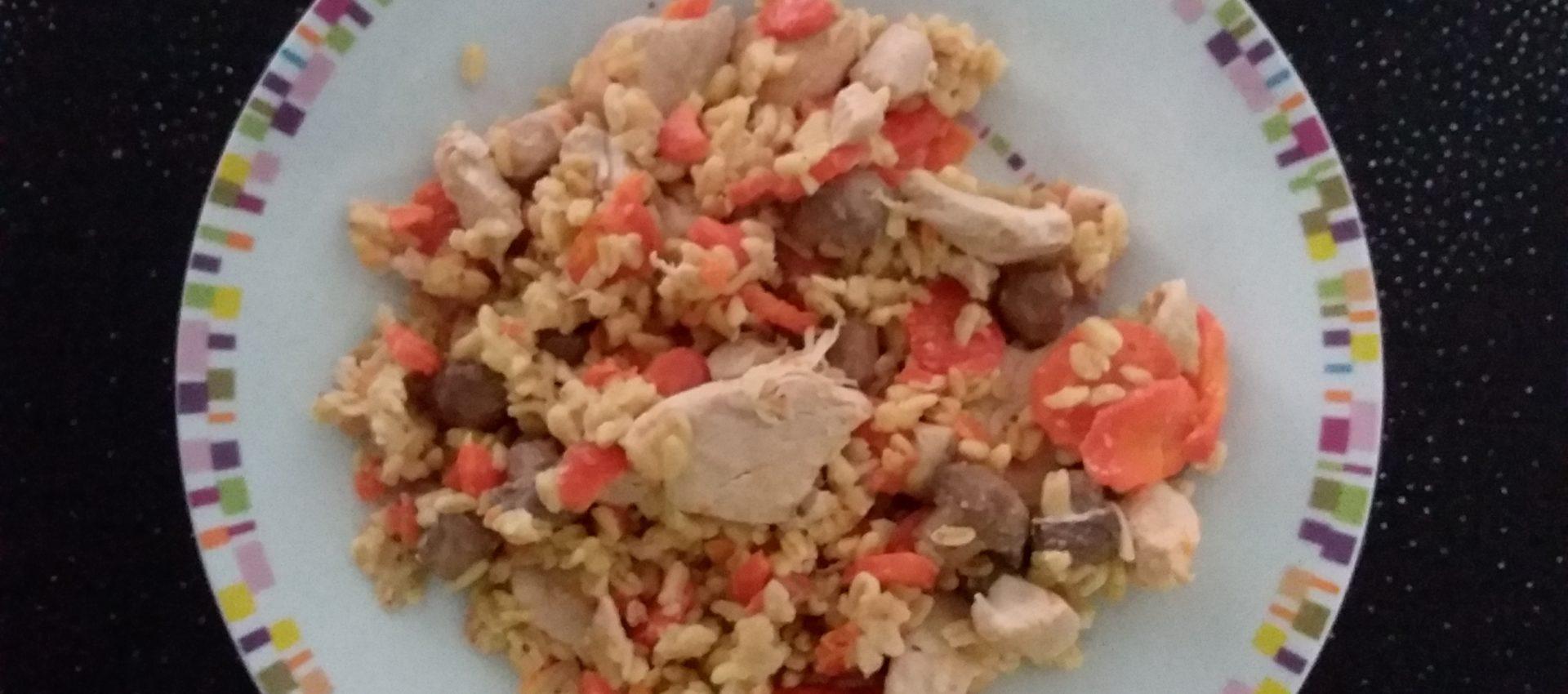 Sauté de dinde aux carottes et au blé WW au cookeo