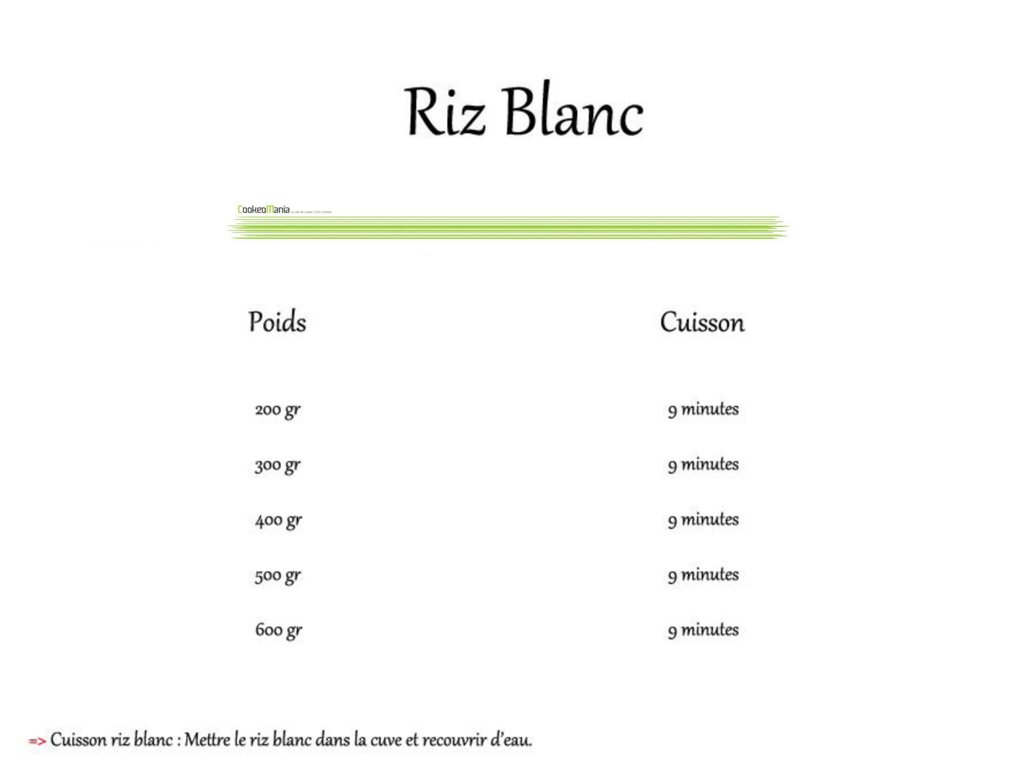 cuisson riz blanc