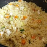 Quinoa, lentille, carotte, courgette et tofu de Bruno