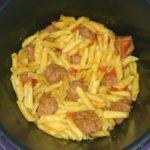 Boulettes de veau, pâtes et tomates
