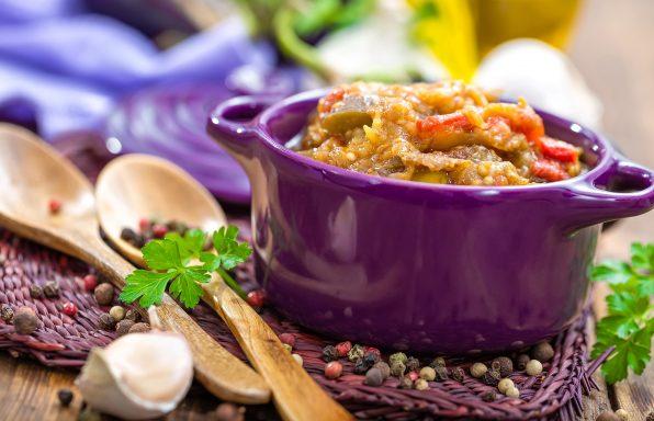 Purée d'aubergine light au cookeo