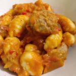 Gnocchi et boulette de viande aux poivrons cuisinés à l'autocuiseur Moulinex