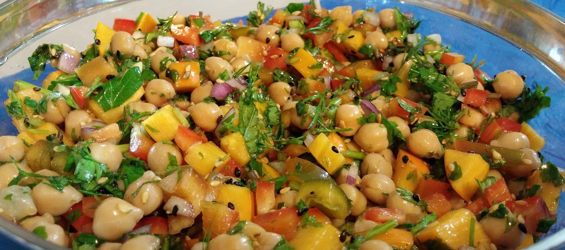 Salade de pois chiche au cookeo