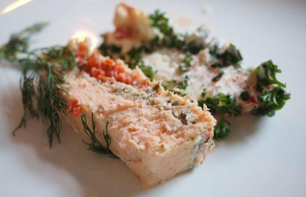 Terrine de saumon et courgette