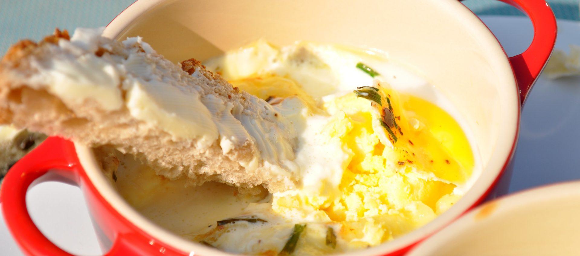 oeufs cocotte crème camembert au cookeo