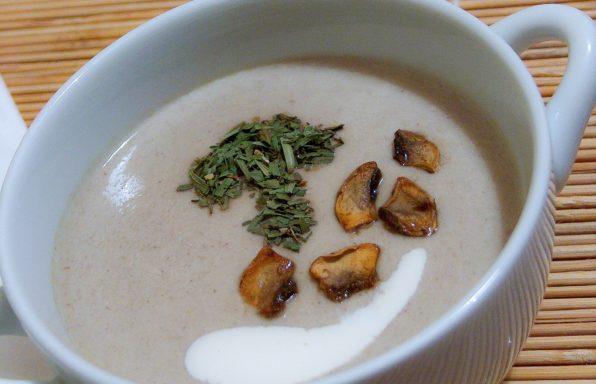 Velouté de poireaux aux champignons au cookeo
