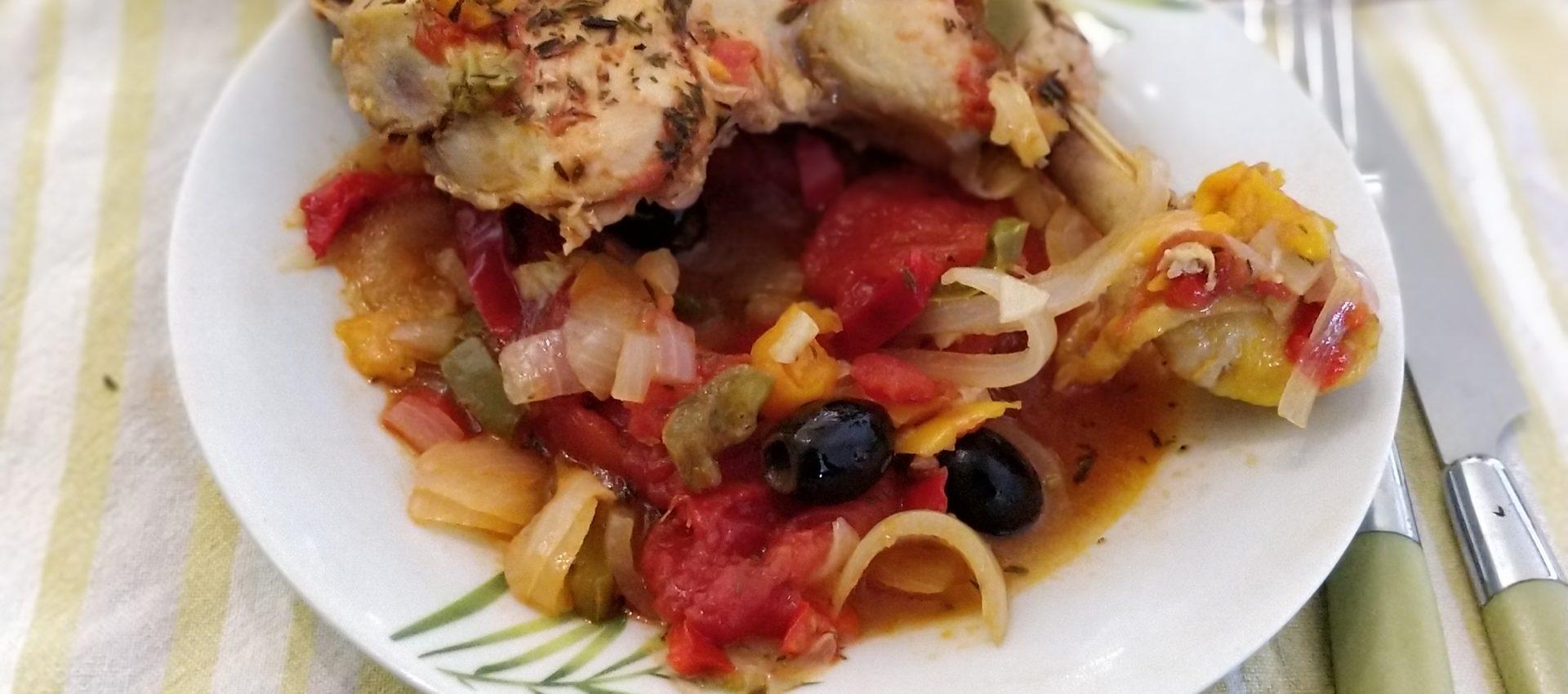 Cuisse de poulet à la Provençale au cookeo