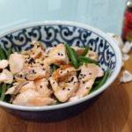 Saumon et haricots verts à la Japonaise