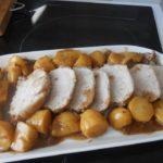 Rôti de porc et pommes de terre