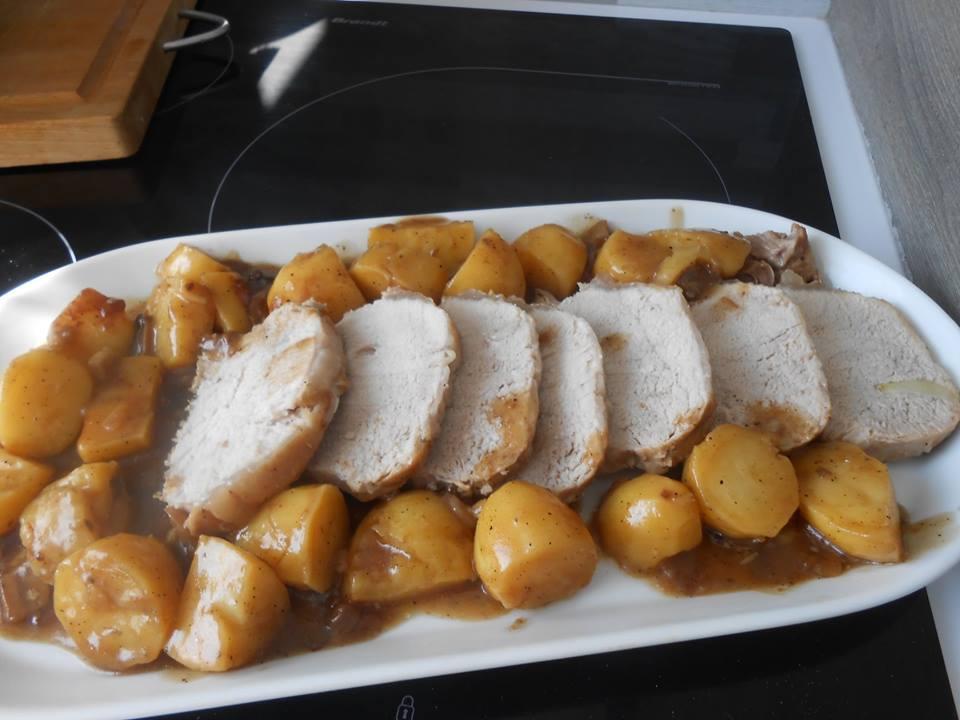 Roti de porc pommes de terre au cookeo