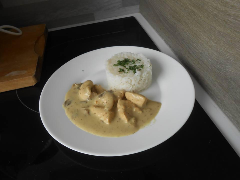 aiguillettes de poulet curry et coco au cookeo
