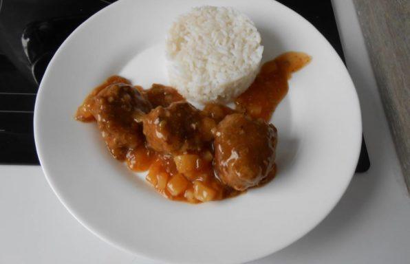 boulette de viande sucree salee au cookeo