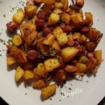Pommes de terre sautées, knackis, oignons au cookeo