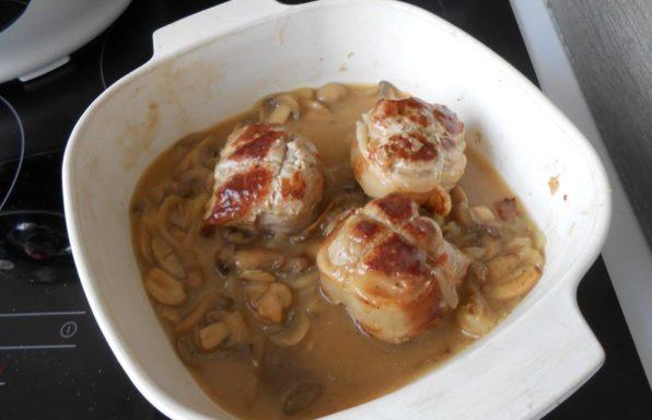 paupiette de porc aux champignons au cookeo