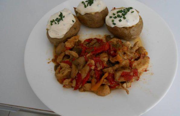 wok poulet poivron champignon au cookeo