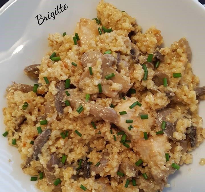 Quinoa à la dinde et champignon au cookeo