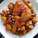 Cuisses de poulet moutarde et Paprika et son accompagnement