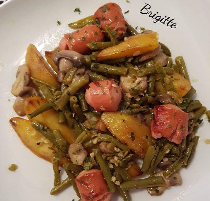 Jardinière de légumes aux Knackis La cuisine de Bibi