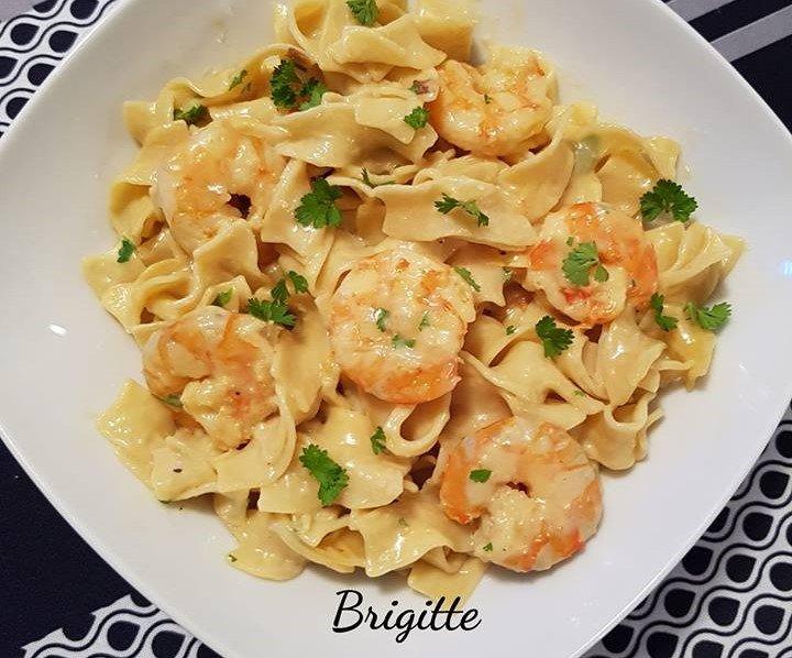 Tagliatelles aux crevettes parmesan au cookeo La cuisine de Bibi