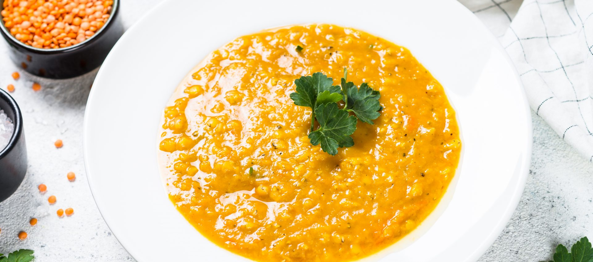 Soupe de lentilles Corail au curry au cookeo