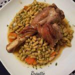Souris d'agneau miel et vinaigre balsamique et ses flageolets