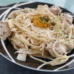 Spaghetti au Boursin et poulet
