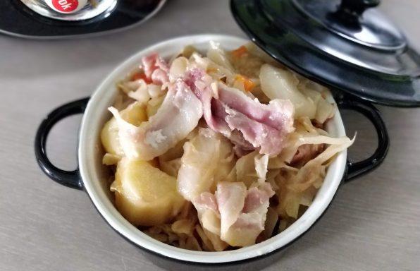 Chou blanc façon potée sans saucisse au cookeo