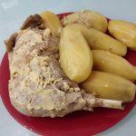 Cuisse de dinde à la moutarde et pommes de terre