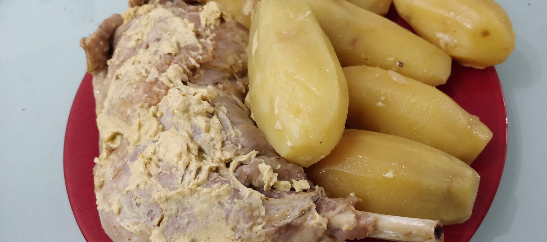 Cuisse de dinde à a moutarde et pomme de terre au cookeo