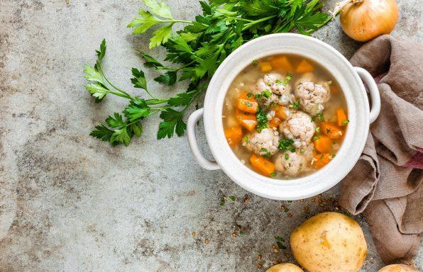 Soupe sarrasin et boulettes de viande au cookeo