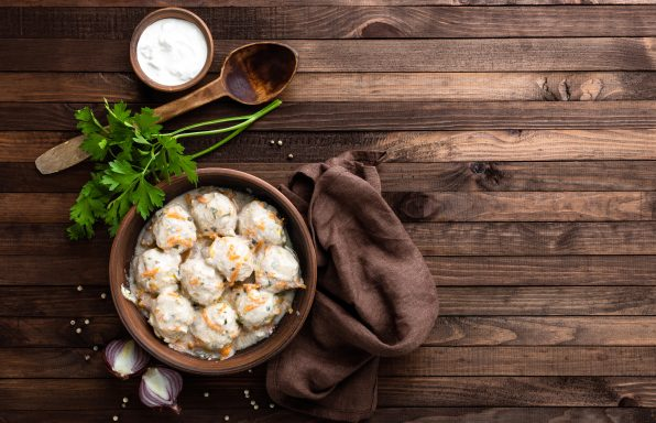 Boulettes de viande de poulet à la crème au cookeo