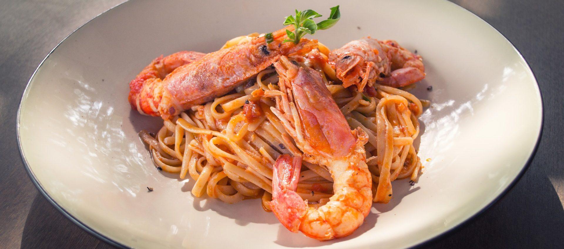 Linguine aux crevettes au cookeo