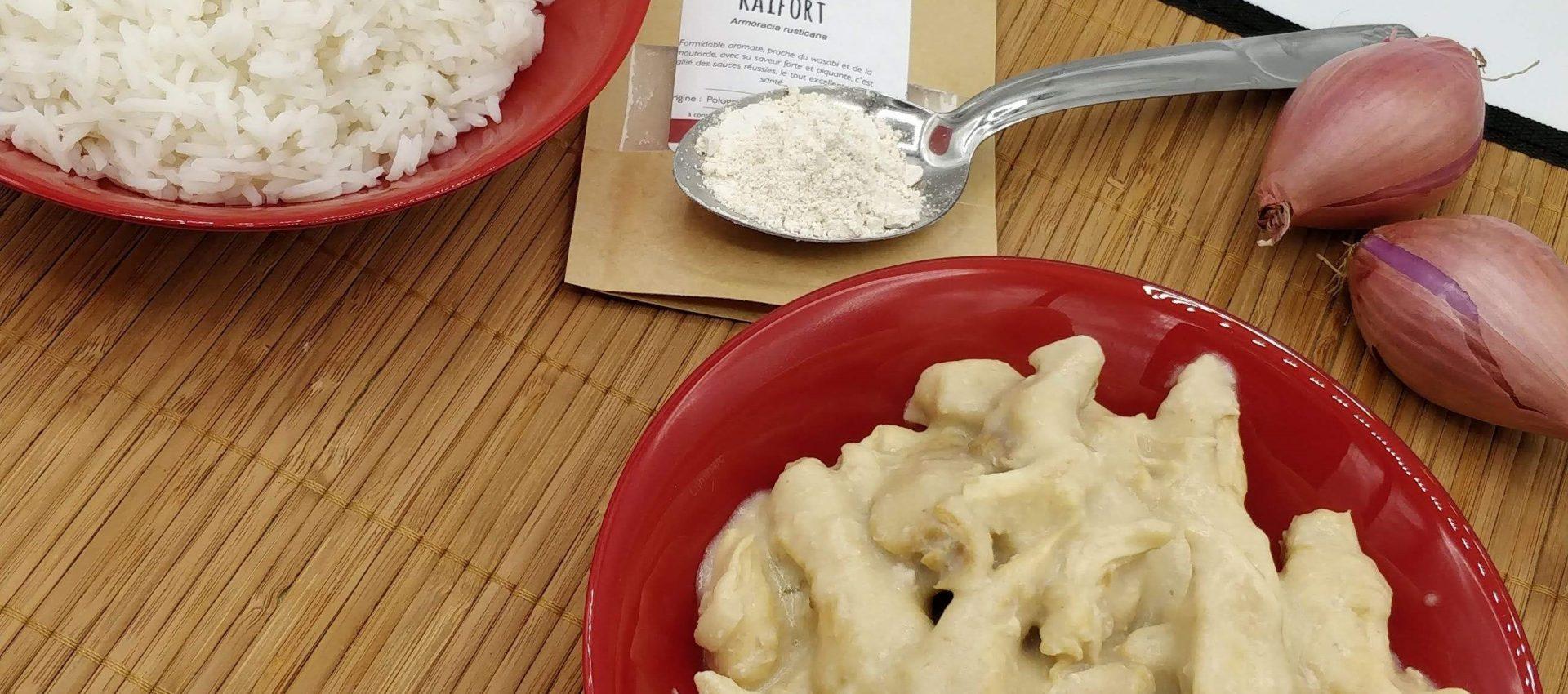 Aiguillettes de poulet au Raifort au cookeo