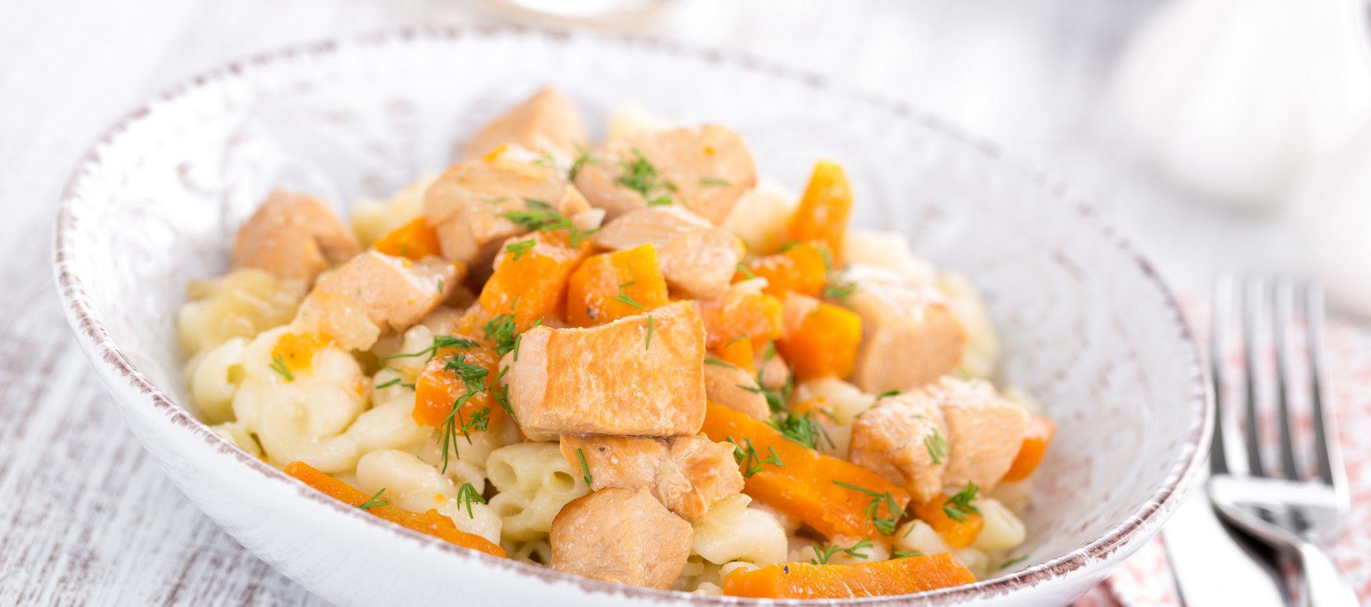 Poulet aux carottes gingembre et estragon au cookeo