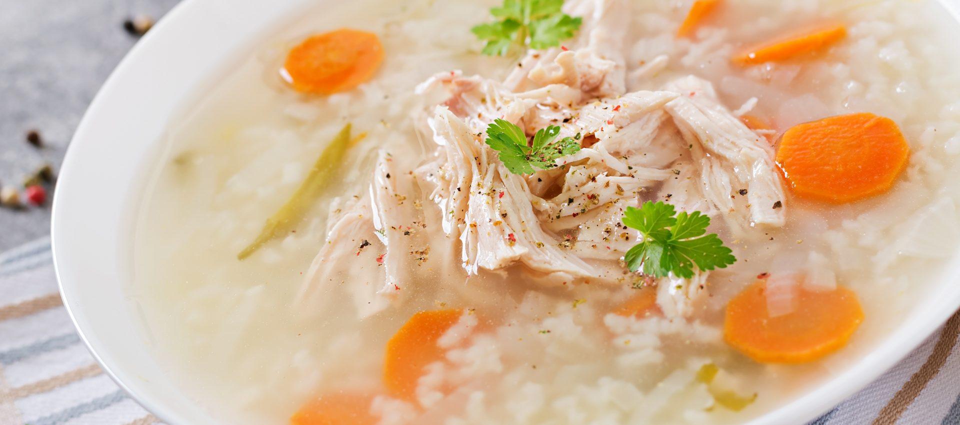 Bouillon de volaille au riz au cookeo