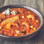 Potage Espagnol poisson et chorizo
