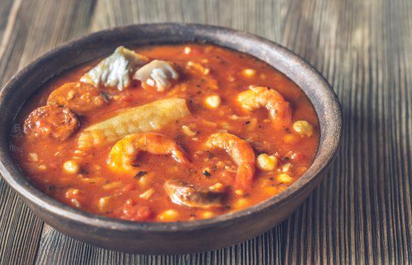 Potage Espagnol poisson et chorizo au cookeo