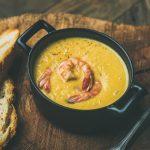 Velouté de maïs aux crevettes