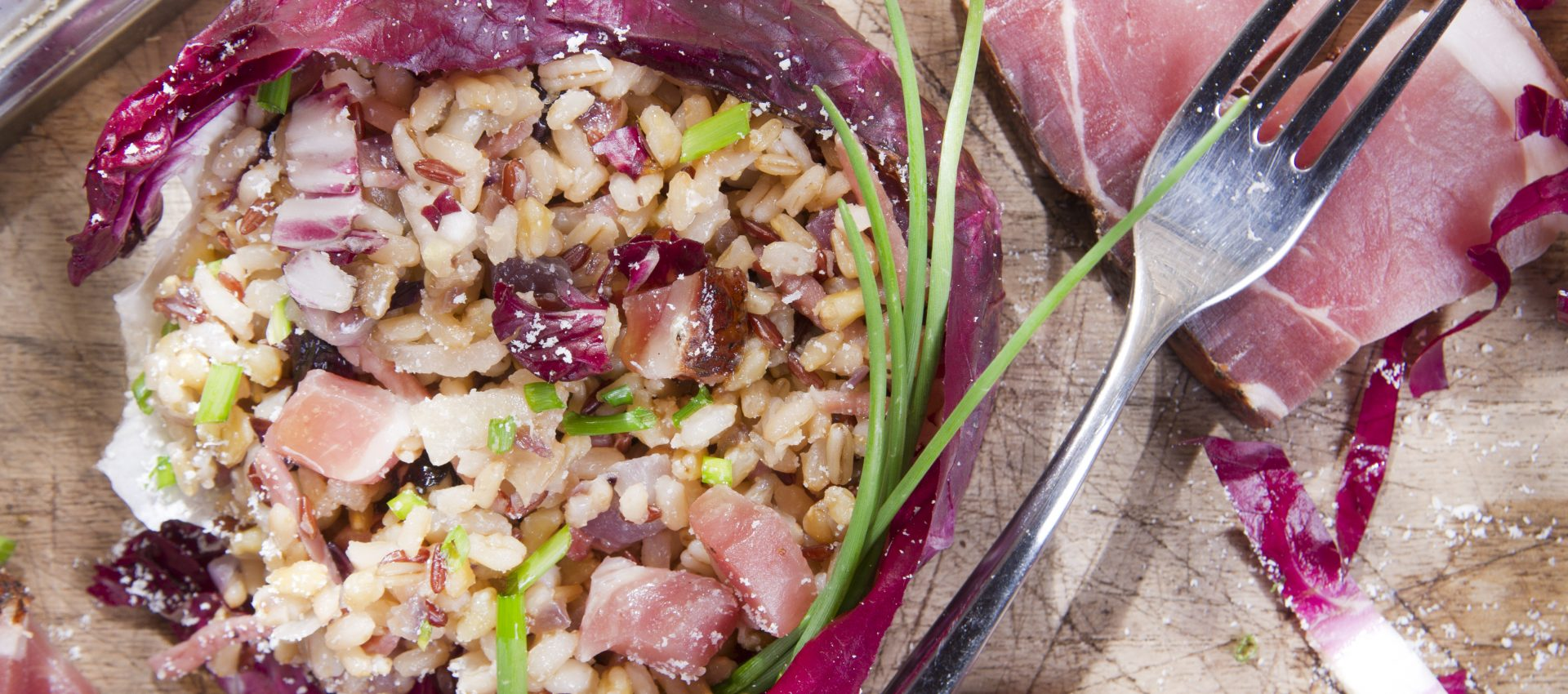 Risotto de jambon cru et chou rouge au cookeo