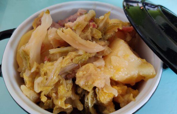 Potée de chou vert frisé et saucisses au cookeo