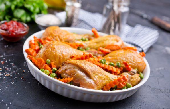 Pilons de poulet petits pois carottes au cookeo